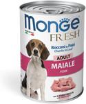 Monge Dog Fresh Chunks in Loaf 400 гр./Монж консервы для собак мясной рулет свинина