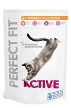 Perfect Fit Active 190гр./Перфект Фит сухой корм для активных кошек с курицей