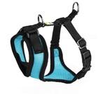 Шлейка Hunter для собак Manoa S (38-47 см) нейлон/сетчатый текстиль голубой/92722