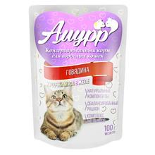 Амурр 100 гр./Консервы для кошек Говядина в желе