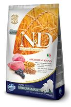 Farmina N&D Low Grain Dog Lamb & Blueberry Puppy Medium & Maxi 12 кг./Фармина сухой корм  для щенков беременных и кормящих собак Спельта, овес, ягненок, черника