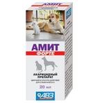 Амит Форте/Акарицидный препарат для ушей собак и кошек 20 мл