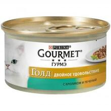 Gourmet Gold 85 гр./Гурме Голд консервы для кошек с кроликом и печенью