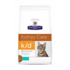 Hills Prescription Diet k/d 400 гр./Хиллс сухой корм для кошек  полноценный диетический рацион при заболеваниях почек, МКБ Тунец