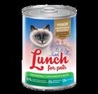 Lunch for pets Premium 400 гр./Консервы для кошек Перепелка с кроликом в желе