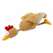 GiGwi/ГиГви Игрушка для собак Курица с пищалкой/ткань/75537/