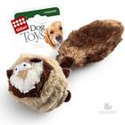 GiGwi/ГиГви Игрушка  для собак Барсук с 2-мя пищалками. Внутри теннисный мяч с пищалкой/75106/