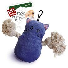 GiGwi/ГиГви Игрушка для собак Кот с пищалкой/75034/