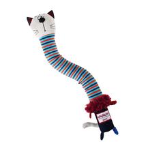 GiGwi/ГиГви Игрушка для собак Кот с пищалкой с хрустящей шеей/75413/