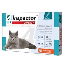 Inspector Квадро капли для кошек до 4-8 кг