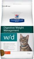 Hills Prescription Diet w/d 1,5 кг./Хиллс сухой корм для кошек с сахарным диабетом, при запорах, колитах, контроль веса