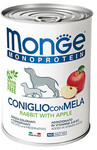 Monge Dog Monoprotein Fruits 400 гр./Консервы для собак паштет из кролика с рисом и яблоками