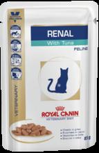 Royal Canin Renal 85 гр./Роял канин консервы Диета для кошек при хронической почечной недостаточности с тунцом