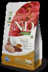 Farmina N&D Cat Quinoa Skin&coat Quail 1,5 кг./Фармина сухой беззерновой корм для кошек Перепел, киноа, кокос и куркума