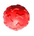 HOMEPET/ Игрушка для собак мяч с рисунком косточки с пищалкой 6 см.