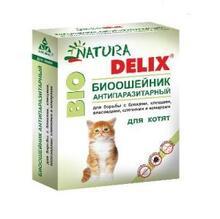 Natura Delix BIO//Деликс Био биоошейник антипаразитарный для котят 25 см