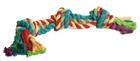 """Beeztees/Игрушка д/собак """"Канат с 3-мя узлами"""" разноцветный 425г*60см/641142"""