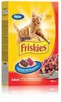 Friskies Adult 400 гр./Фрискис сухой корм для взрослых кошек с мясом,печенью и курицей