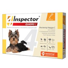 Inspector Квадро капли для собак 1-4кг