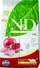 Farmina N&D Cat Chicken & Pomegranate Neutered 10 кг./Фамина сухой беззерновой  корм для кошек курица с гранатом для стерил и кастр