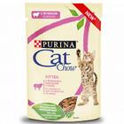 Cat Chow 85 гр./Кет Чау паучи для котят с ягнёнком и кабачками в соусе