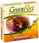 Green Fort//ОшейникБио для собак средних пород от блох 65 см