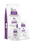 Brit Care Grain-free Giant Salmon & Potato  3 кг./Брит Каре сухой корм для взрослых собак крупных пород Беззерновая формула с лососем и картофелем