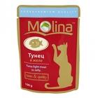 Molina 100 гр./Молина Влажный корм (пауч) для кошек Тунец в желе