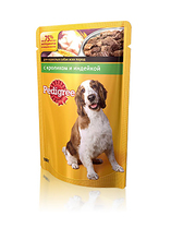 Pedigree 100 гр./Педигри консервы в фольге для собак с кроликом и индейкой