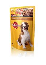 Pedigree 100 гр./Педигри консервы в фольге для собак с говядиной и ягненком