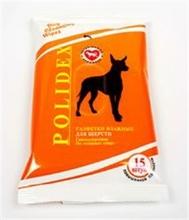 Polidex//влажные салфетки для шерсти 15шт