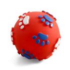 TRIOL /Игрушка для собак Мяч с лапками 60мм/12101097