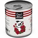 Dog`s Menu 340 гр./Консервы для собак Ростбиф из говядины и рубца