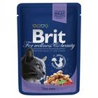 Brit Premium 100 гр./Брит премиум Влажный корм для кошек Треска