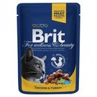 Brit Premium 100 гр./Брит премиум Влажный корм для кошек Курица и индейка