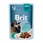 Brit Premium 85 гр./Брит премиум Влажный корм для кошек Кусочки из филе говядины в соусе