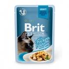 Brit Premium 85 гр./Брит премиум Влажный корм для кошек Кусочки из куриного филе в соусе