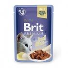 Brit Premium 85 гр./Брит премиум Влажный корм для кошек Кусочки из филе говядины в желе