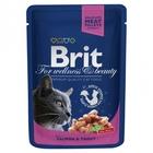 Brit Premium 100 гр./Брит премиум Влажный корм для кошек Лосось и форель