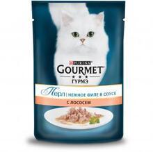 Gourmet Perle 85гр./Гурме Перл консервы в фольге для кошек мини филе лосось