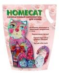 HOMECAT 7,6 л./Хоум Кэт наполнитель силикагелевый с ароматом розы