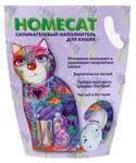 HOMECAT 7,6 л./Хоум Кэт наполнитель силикагелевый с ароматом лаванды