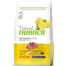 Trainer  Natural Small & Toy  для собак мелких пород с говядиной и рисом 2 кг.