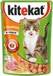 Kitekat85 гр./Китекет консервы в фольге для кошек с индейкой в соусе