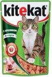 Kitekat 85 гр./Китекет консервы в фольге для кошек с кроликом в соусе