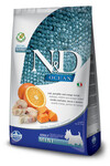 Farmina N&D Dog OCEAN CODFISH, PUMPKIN&ORANGE Mini 800 гр./Фармина Сухой беззерновой корм для взрослых собак малых пород треска, тыква и апельсин