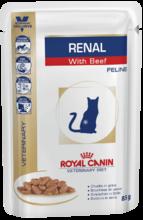 Royal Canin Renal 85 гр./Роял канин консервы Диета для взрослых кошек с хронической почечной недостаточностью с говядиной