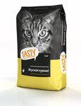 TASTY 10 кг.+1 кг./Сухой корм для кошек с курицей Акция