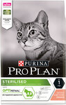 Pro Plan Sterilised 1,5 кг./Проплан сухой корм для поддержания здоровья стерилизованных кошек с лососем