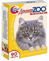 Доктор ЗОО//витамины для кошек со вкусом сыра 90 таб.